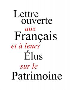 Lettre ouverte aux Français et à leurs Élus sur le Patrimoine (ouvrage collectif)